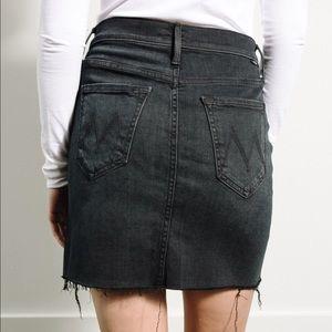 Mother Denim Coin Mini Fray Skirt, Black, 24